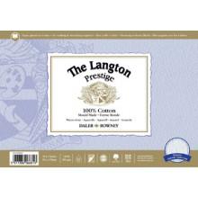 Daler Rowney : Langton : Prestige : Bloc Papier Aquarelle: 20x30cm : Grain Torchon
