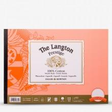 Daler Rowney : Langton : Prestige : Bloc Papier Aquarelle Encollé: 25x35cm : Grain Satiné