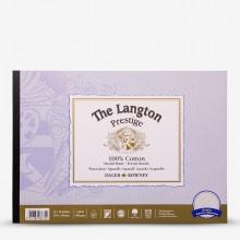 Daler Rowney : Langton : Prestige : Bloc Papier Aquarelle Encollé: 25x35cm : Grain Torchon