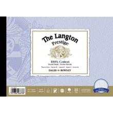 Daler Rowney : Langton : Prestige : Bloc Papier Aquarelle Encollé: 14x20in : Grain Torchon