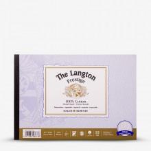 Daler Rowney : Langton : Prestige : Bloc Papier Aquarelle Encollé: 7x10in : Grain Torchon