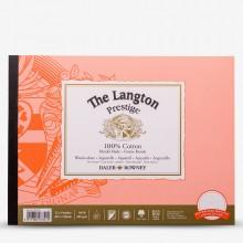 Daler Rowney : Langton : Prestige : Bloc Papier Aquarelle Encollé: 20x30cm : Grain Satiné