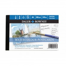 Daler Rowney :Postcard : Bloc de  12 Feuilles : 140lb : 300gsm : Grain Fin