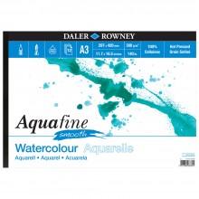 Daler Rowney : Aquafine : Bloc Papier Aquarelle : Paysage : 300G : A3 : Surface Lisse