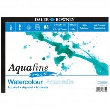 Daler Rowney : Aquafine : Bloc Papier Aquarelle : Paysage : 300G : A4 : Surface Lisse