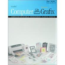 Grafix :Film Transparent pour Jet d'Encre A4 : 6 Pack