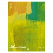 Global : Fluid Easy Bloc : Papier Aquarelle : 300gsm : 30x40cm : Grain Satiné