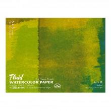 Global : Fluid Easy Bloc : Papier Aquarelle : 300gsm : 16x21cm : Grain Satiné