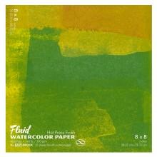 Global : Fluid Easy Bloc : Papier Aquarelle : 300gsm : 8x8in : Grain Satiné
