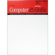Grafix : Film à endos adhésif mat pour jet d'encre A4 : Pack 6