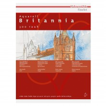 Hahnemuhle : Britannia : Papier Aquarelle : 300gsm : 50x65cm : Lot de 10 Feuilles : Grain Fin