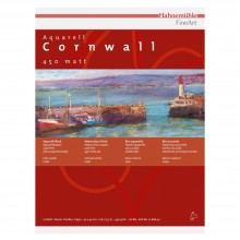 Hahnemuhle :Cornwall : Papier Aquarelle : 450gsm : 50x65cm : 10 Feuilles : Grain Fin