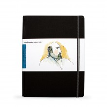 Hand Book Journal Company : Drawing Journal : 10.5x8.25in : Large Portrait : Noir Ivoire( Ivory Black)