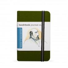 Hand Book Journal Company : Drawing Journal : 5.5x3.5in : Portrait : Vert de Cadmium( Cadmium Green)