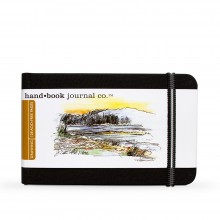 Hand Book Journal Company : Drawing Journal : 3.5x5.5in : Paysage : Noir Ivoire( Ivory Black)