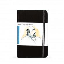 Hand Book Journal Company : Drawing Journal : 8.25x5.5in : Portrait : Noir Ivoire( Ivory Black)