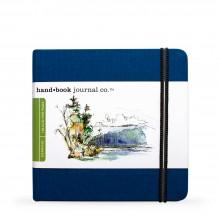 Hand Book Journal Company : Drawing Journal : 5.5x5.5in : Carré : Bleu d'Outremer( Ultramarine Blue)