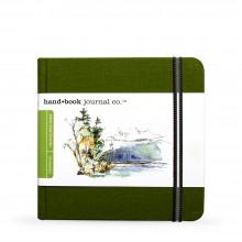 Hand Book Journal Company : Drawing Journal : 5.5x5.5in : Carré : Vert de Cadmium( Cadmium Green)