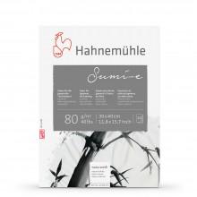 Hahnemuhle : Sumi E Japanese : Bloc Papier pour Encres  80gsm: 30x40cm : 20 Feuilles