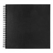 Seawhite :30x30cm Carte Noire 220gsm : 40 Pages: bloc à spirales