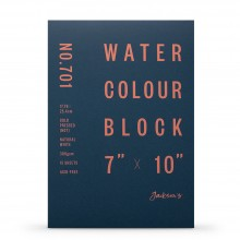 Jackson's : Watercolour Paper : Block : 300gsm : 15 Sheets  : 7x10in : Not