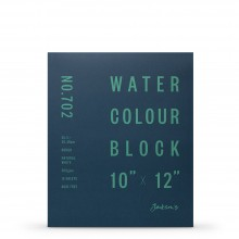 Jackson's : Watercolour Paper : Block : 300gsm : 15 Sheets  : 10x12in : Rough