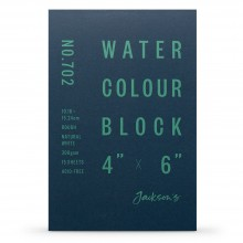 Jackson's : Watercolour Paper : Block : 300gsm : 15 Sheets  : 4x6in : Rough