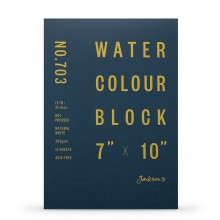 Jackson's : Watercolour Paper : Block : 300gsm : 15 Sheets  : 7x10in : Hot Pressed
