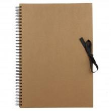 Seawhite : A3 Papier Marron: Bloc à Spiral: Livre d'Affichage : 40 Feuilles