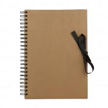 Seawhite : A4 Papier Marron : Livre d'Affichage : 40 Feuilles : Bloc à Spiral