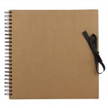 Seawhite :30x30 Livre d'Exposition Papier Brun : 40 Pages : bloc à spirales