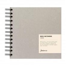 Jackson's :Cahier de Croquis à Spirale: 130gsm : 55 Feuilles : 17x17cm : Carré