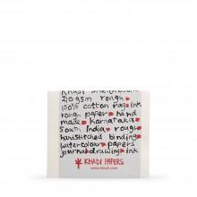 Khadi :Couverture Faite Main : Cahier de Croquis 210gsm : Grain Torchon :13x16cm : 20 Feuilles