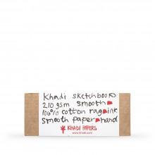 Khadi :Couverture Faite Main Rigide : Cahier de Croquis 210gsm : Surface Lisse : 13x32cm : 40 Pages