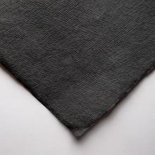 Khadi :Papier Chiffon Noir Fait Main : 210gsm : Grain Torchon : 56x76cm