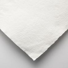 Khadi :Handmade : Papier Chiffon Blanc: 320gsm : Grain Torchon : 56x76cm