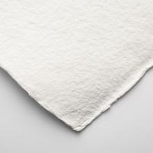 Khadi :Handmade : Papier Chiffon Blanc: 1000gsm : Grain Torchon : 56x76cm : 20 Feuilles