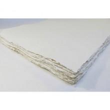 Khadi :Papier Tissu Blanc : Paysage: 320gsm: Grain Torchon : 35x70cm : 20 Feuilles