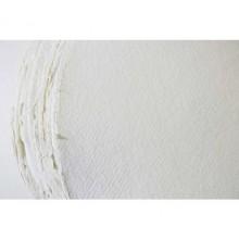Khadi :Papier Rond : Toucher Tissu: Blanc :320gsm : Grain Torchon : 56cm de Diamètre
