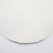 Khadi :Papier Rond : Toucher Tissu: Blanc : 320gsm : Grain Torchon : 56cm de Diamètre : 10 Feuilles