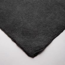 Khadi :Papier Chiffon Noir Fait Main : 320gsm : Surface Lisse : 56x76cm