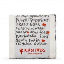 Khadi :Handmade : Papier Aquarelle : 150gsm : Grain Torchon : Bloc de 15 Feuilles : 15x15cm