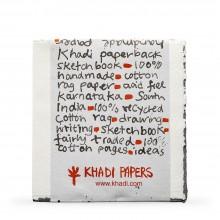 Khadi :Handmade : Papier Aquarelle : 150gsm : Grain Torchon : Bloc de 15 Feuilles : 20x20cm