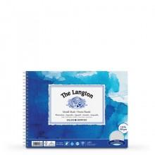 Daler Rowney : Langton : 20x30cm : Bloc Papier Aquarelle: 300g : Grain Torchon