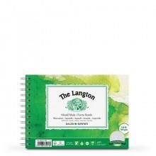 Daler Rowney : Langton : 12x18cm : Bloc Papier Aquarelle  : 300g : Grain Fin