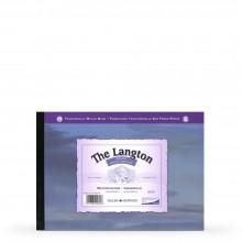 Daler Rowney : Langton : Papier Aquarelle : Bloc Encollé: 300g : A2 : Grain Torchon