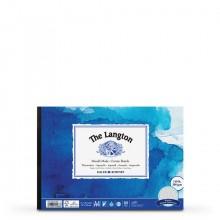Daler Rowney : Langton : Papier Aquarelle : Bloc Encollé: 300g : A4 : Grain Torchon