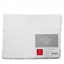 Panart : Handmade Paper : 4 Deckled Edges : White : 200gsm : 25 Sheets : 8.5x11in