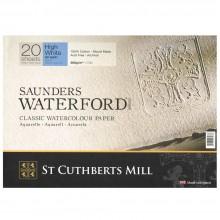 Saunders Waterford : Bloc : High White : 20x30cm : Grain Fin