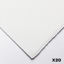 Saunders Waterford : 56x76cm :  300g : High White : 20 Feuilles : Grain Fin